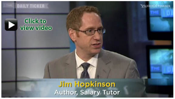 Jim Hopkinson of Salary Tutor on Yahoo Finance